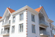 canvas print picture - modern building in the style of Arcachon Basin in France