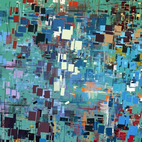 Fototapeta Chaotic various texture. Multiple colors. obraz na płótnie