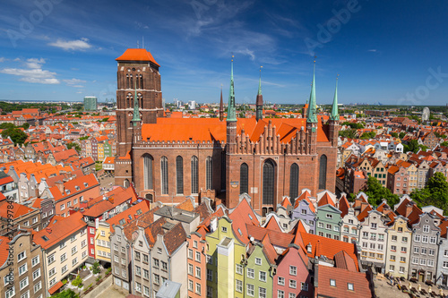 Fototapety, obrazy: Architecture of the St. Mary's Basilica in Gdansk, Poland