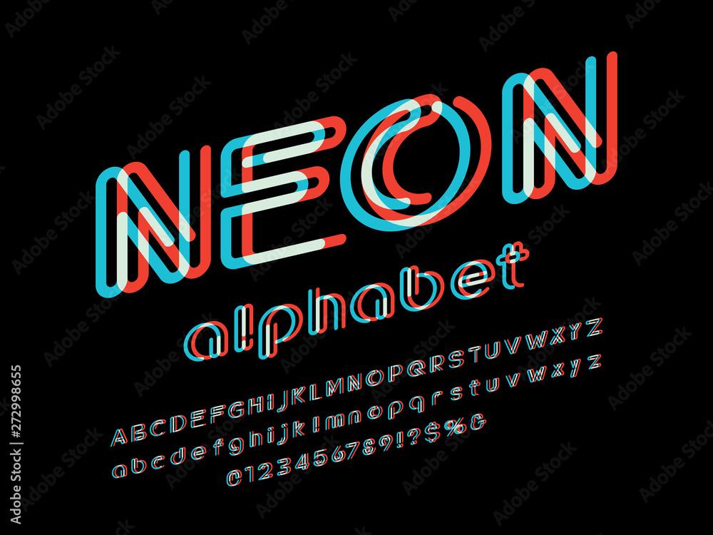 Fototapety, obrazy: Vector of stylized modern alphabet design