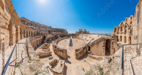 Fotografiet Amphitheatre of El Jem in Tunisia