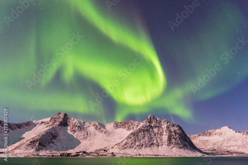 Cadres-photo bureau Aurore polaire Northern lights, Senja Norway