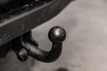 Close Up, Black Car  Tow Hitch...
