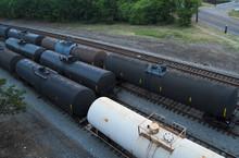 Railcars On A Siding