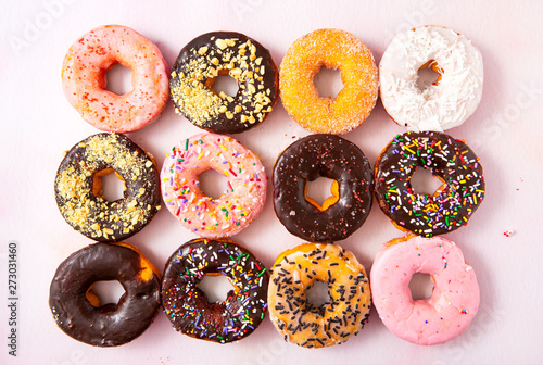 Photo  Fresh Baked Assorted Doughnuts
