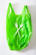 Leinwandbild Motiv disposable plastic bag, waste, recycling, environmental issues