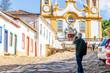 Leinwanddruck Bild - city landscape Tiradentes, Brazil - MG, historic Brazilian city.