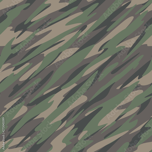 Photo Forest Jungle Camouflage Abstract Seamless Repeating Pattern Vector Illustration