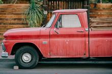 Old Style Vintage American Car.
