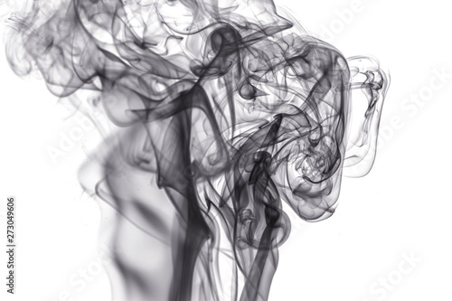 Fototapety, obrazy: Black smoke on white background