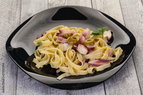 Photo  Pasta with octopus