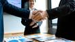 Businessman hand together Handshake for business