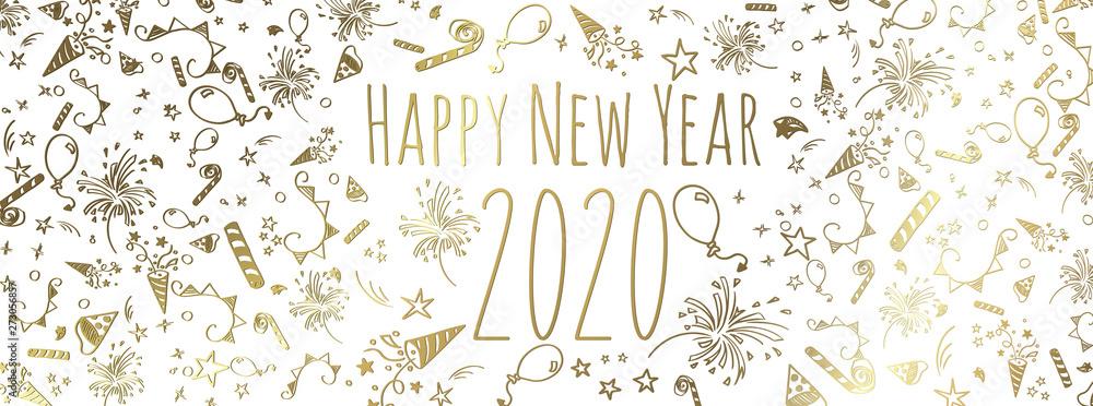 Fototapety, obrazy: happy new year 2020