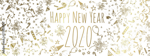 Fototapeta happy new year 2020