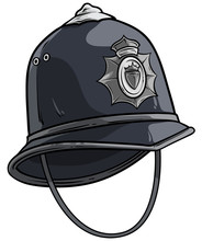 Cartoon Gray London Police Hel...