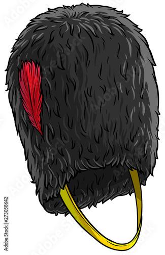 Cartoon black british army bearskin Canvas Print