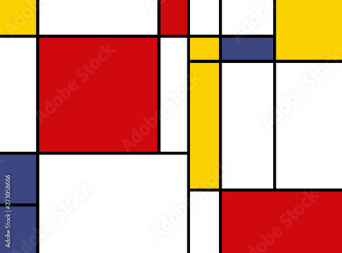 Photo  colorful rectangles; mondrian style