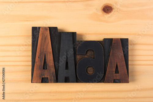 Abc Vintage Wooden Letters On Wood Buy This Stock Photo And