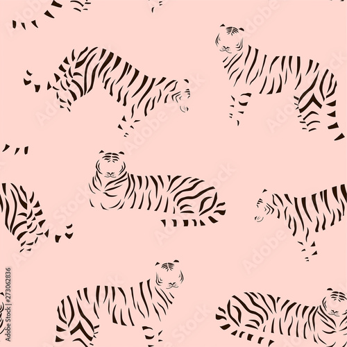 Abstract tiger pattern Fototapet