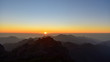 Sunset view from the high point to gran canaria island