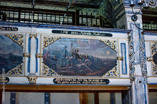 Fototapeta wnętrze kościóła pokoju w Jaworze obraz