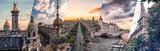 Fototapeta Fototapety Paryż - Paris famous landmarks collage