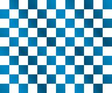 シームレス市松模様(青グラデーションと白)