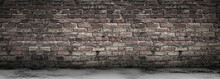 Large Grungy Blank Old Brick W...