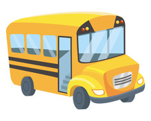 School Bus Design Vector Illus...