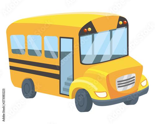 School bus design vector illustrator Fototapet