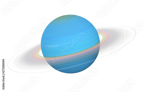 Photo  Planet Uranus Isolated (Elements of this image furnished by NASA)