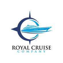 Royal Cruise Logo Icon Boat