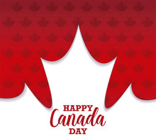 Pattern For Happy Canada Day With Maple Leafs