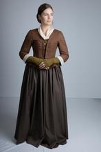 18th Century Woman In Brown En...