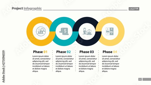 Valokuvatapetti Four phases process template