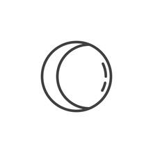 Waning Gibbous Moon Line Icon....