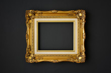 Gold Vintage Picture Frame On ...