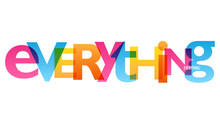 EVERYTHING Colorful Vector Concept Word Typography Banner