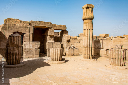 Keuken foto achterwand Oude gebouw Anscient Temple of Karnak in Luxor - Archology Ruine Thebes Egypt beside the nile river