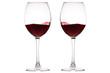 Leinwanddruck Bild - Set of glasses with red wine