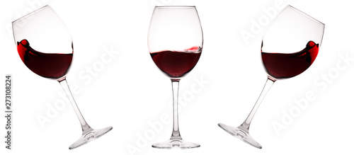 Autocollant pour porte Vin Set of glasses with red wine