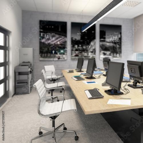 Photo sur Toile Les Textures Common Computer Workplace Design (focus) - 3d visualization