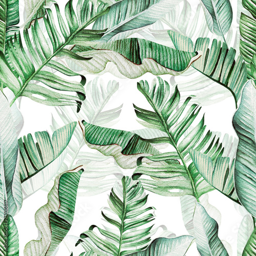 beautiful-watercolor-seamless-pattern-with-tropical-leaves-and-banana-leaves