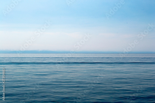 Autocollant pour porte Eau Lake Baikal on a sunny day. Clear blue sky and water. Free space for text. Background for design, screen saver