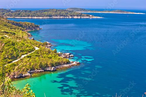 Dubrovnik archipelago coastline view near Cavtat Canvas Print