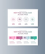 Set of brochures infographics for marketing the promotion goods and services on market