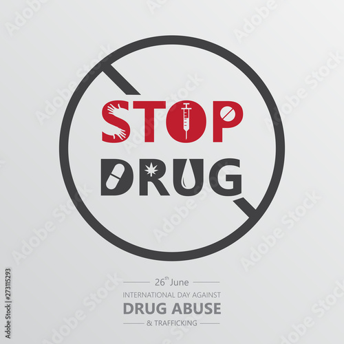 Photo international day against drug abuse banner vector