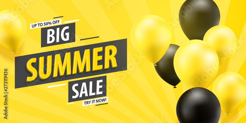 Papel de parede Big summer sale banner template design
