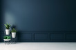 canvas print picture - 3d empty interior with home plant