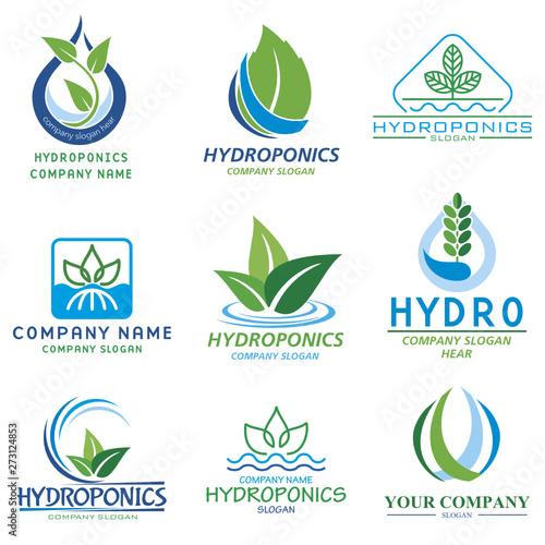 Set vector images for logo hidroponic companys and farms #273124853